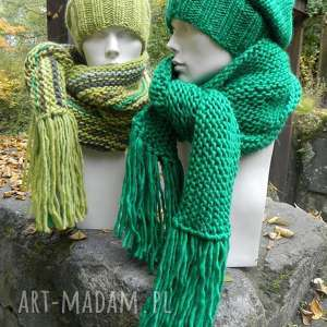 handmade szaliki 30 kolorów wybierz swój 100% wool unisex wełniany gruby