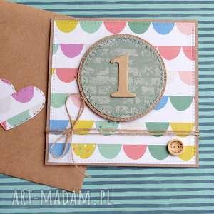 hand-made kartki na roczek:: kartka handmade:: multicolor