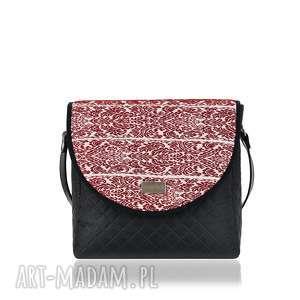 na ramię torebka puro 1290 belarusian claret, praktyczna, klapki, wygoda, hit