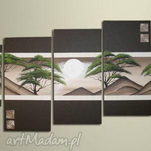 obraz ręcznie malowany - afryka 9 150x70cm, obraz, płótno, obrazy dom