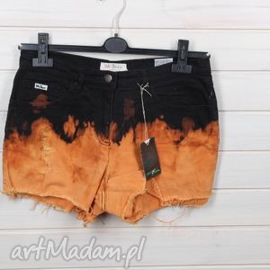 spodenki szorty z płomieniami, spodenki, szorty, płominienie, ombre, denim, jeans