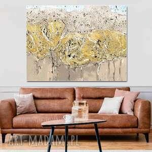 obraz na płótnie złota jesień 80x60, nowoczesny ścianę, nowoczesne