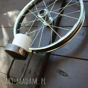świeczniki świecznik z koła rowerowego, loft, świecznik, design