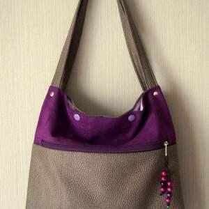 na ramię torebka z ekozamszu, torebka, alcantara, eko zamsz, prezent, torba