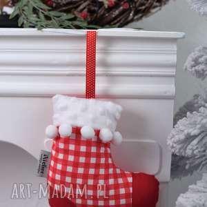 Pomysł na prezent? Skarpeta świąteczna 2 kolory ozdoby świąteczne