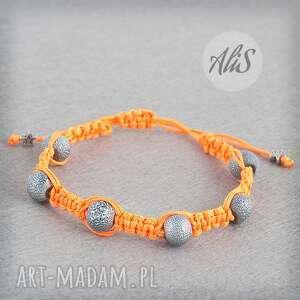 Odważny pomarańcz - ,pomarańczowa,jaskrawa,sznurek,zapięcie,regulowane,