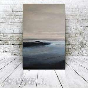 ABSTRAKCJA W SZAROŚCIACH -obraz akrylowy formatu 40/60cm, abstrakcja, obraz, akryl