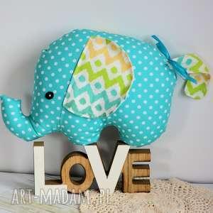słonik tutek - adaś - słonik, szczęście, kolorowy, bezpieczny, roczek