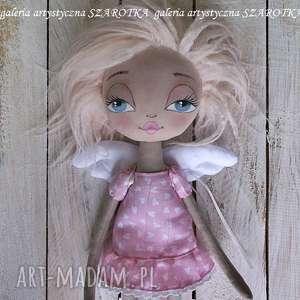 ANIOŁEk lalka - dekoracja tekstylna, OOAK (on of a kind), lalka-aniołek