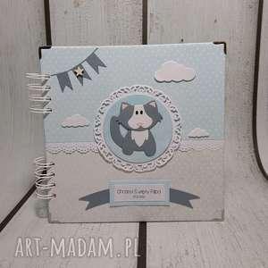 Album z kotkiem, narodziny, urodziny, roczek, chrzest, sesja