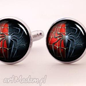 spider-man - spinki do mankietów - spiderman, superbohater, spinki, mankietów