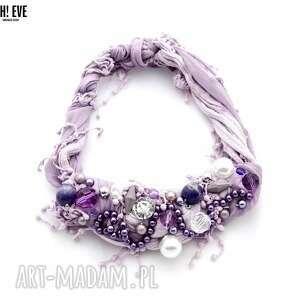 naszyjniki fioletlove naszyjnik handmade, naszyjnik, fioletowy, liliowy, lila
