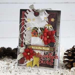 kartka świąteczna - kartka-świąteczna, boże-narodzenie, scrapbooking
