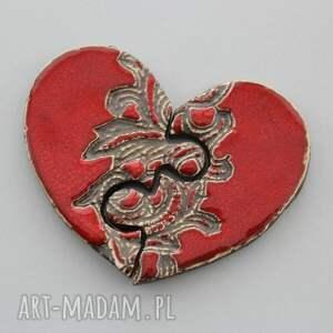serce puzzle - magnesy ceramiczne, prezent, minimalizm, design, parapetówka