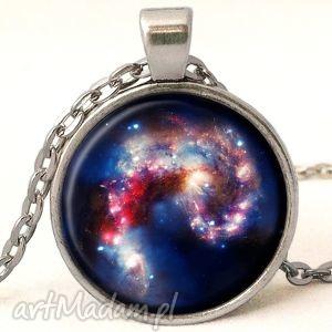 nebula - medalion z łańcuszkiem - nebula, kosmiczna, galaxy, spirala, medalion