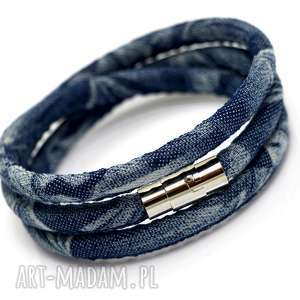 bransoletka denimo triple steel, bransoletka, denim, jeans, stal, magnetyczne
