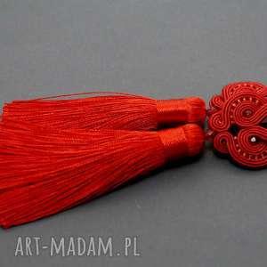 ręcznie robione klipsy czerwone klipsy sutasz