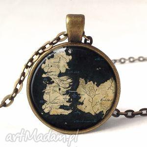 handmade naszyjniki gra o tron - medalion z łańcuszkiem