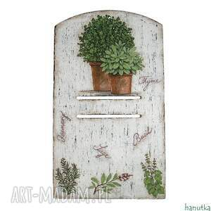 ziołowa - deseczka pod kalendarz - podkładka, prowansalskie prezent