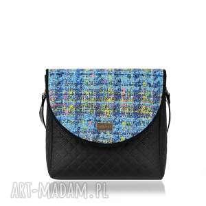 na ramię torebka puro 1268 chanel blue, praktyczna, klapki, wygoda, hit