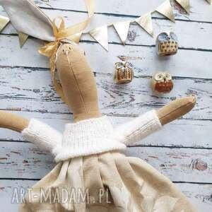 pani królik z wyszytym imieniem, lalka, szmaciana, prezent, dziewczynka