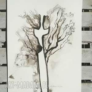 Prezent nowoczesna grafika do salonu, czarno-biała,obraz nowoczesny