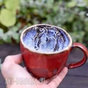 handmade ceramiczny duży kubek z koniem -miedziany 390 ml 70,00 zł, ceramika