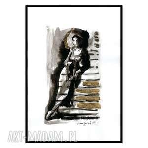 janish pracownia grafika z serii uwikłane w emocje, grafika, abstrakcja