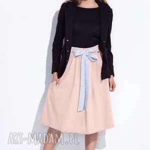 hand made spódnice bien fashion różowa spódnica z kokardą w talii