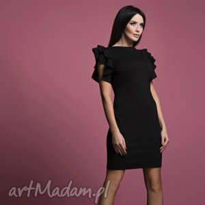 Sukienka T165, czarna, sukienka, elegancka, kobieca