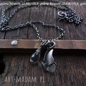 z kroplĄ rosy naszyjnik z kryształu górskiego i srebra - kryształ