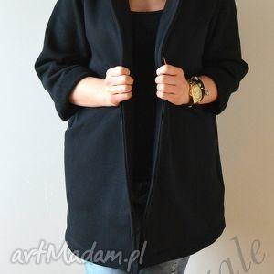 ręczne wykonanie płaszcze l - xl płaszcz narzutka czarna