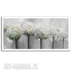 obraz drukowany na płótnie kwiaty hortensji -format 100x50 0355
