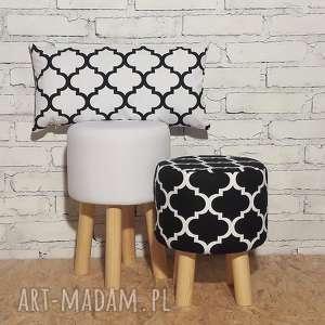 poduszka koniczyna maroco biaŁo - czarna 30 x 60cm, poduszka, pillow