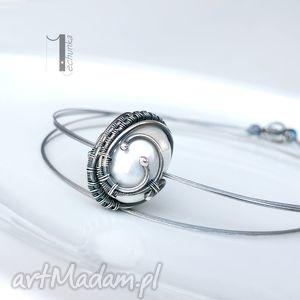 miechunka bianco vii - naszyjnik z perłą majorka, srebro, perła, misterny