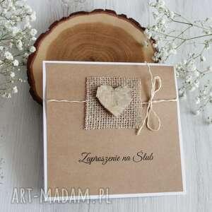 po-godzinach zaproszenie na ślub z sercem - biała, zaproszenia