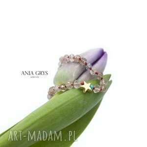 amulet na miłość, kwarc truskawkowy, gwiazdka, bransoletka, amulet, talizman