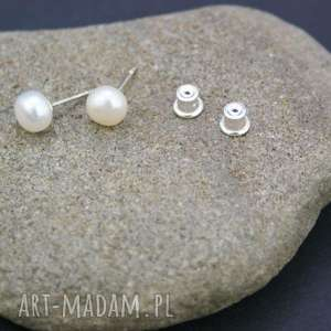 Kolczyki srebro 925 perła naturalna, kolczyki, srebrne, perły, naturalne, słodkowodne