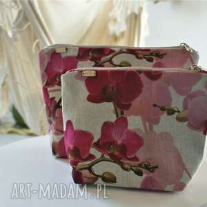 hand-made kosmetyczki zestaw kosmetyczek orchidea