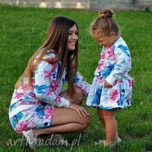 Bluzy dla mamy i córki! Wzór KOLIBER, bluzy, dlamamyicórki, komplet, kwiaty, koliber