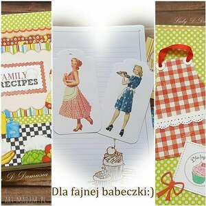 Notes przepiśnik family recipes scrapbooking notesy damusia