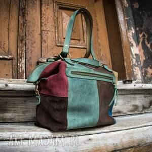 handmade ręcznie wykonana torebka z naturalnej skóry od ladybuq, idealna na plażę