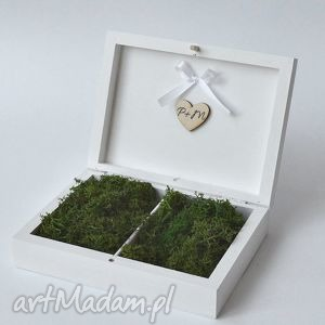 Prezent Pudełko na obrączki ślubne Rustykalne, pudełkonaobrączki, naturalne, prezent