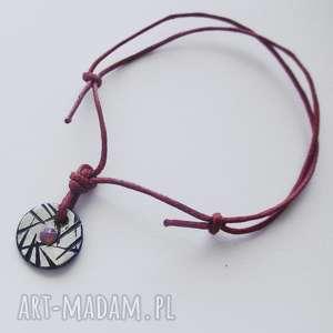 bransoletki okrąg bransoletka, srebro, swarovski, sznurek, świąteczny prezent