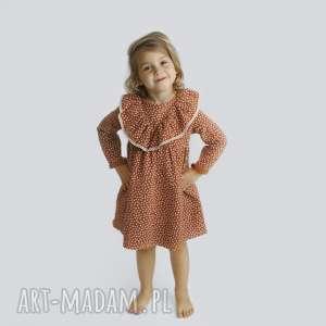 Sukienka z muslinu groszki noeli sukienka, w-groszki, falbanki