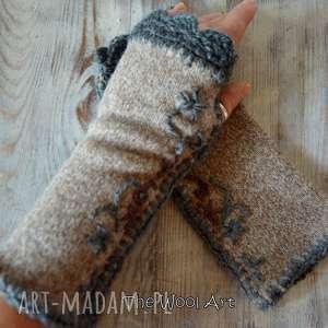 unikalny prezent, rękawiczki mitenki, rękawiczki, nadłonie
