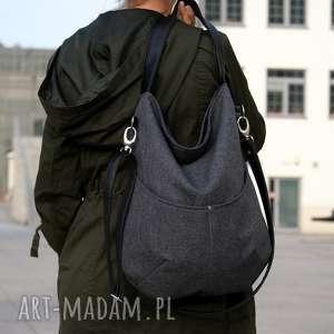 na ramię workówka plecionka grafit czerń, boho, hobo, simple, torebka, torba