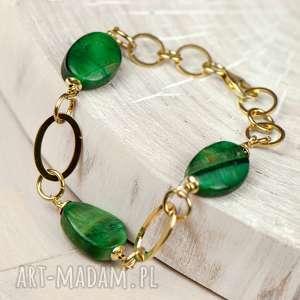 ręcznie zrobione bransoletki złocista bransoletka z bawolim okiem c571