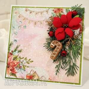 Święta upominek: Świąteczna 9 scrapbooking kartki kartk kartka
