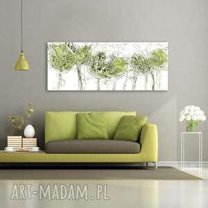 Obraz na płótnie miętowe drzewa 150 x 60 renata bulkszas obrazy